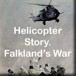 Paintings from the Helicopter Story of the Falklands War, by John Hamilton