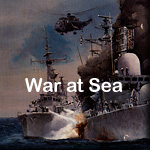 Paintings from John Hamilton's series The War At Sea
